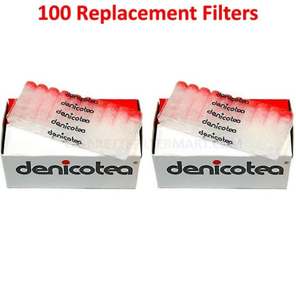 Denicotea Replacement Filters 100 Filters