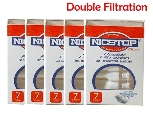 NICSTOP®  Duo Double Filtration Cigarette Filters - 5 Packs