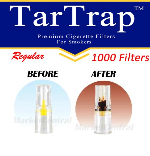 TarTrap Disposable Cigarette Filters - Bulk Economy Pack (1000 Per Pack)