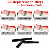 Denicotea Replacement Filters 300 Filters + 1 Free Standard Holder