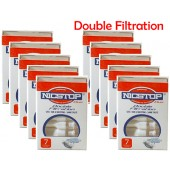 NICSTOP®  Duo Double Filtration Cigarette Filters - 10 Packs